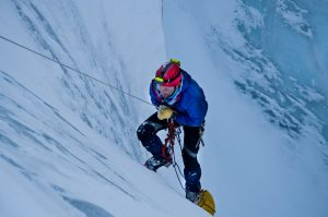 rappelling into the Gorner glacier