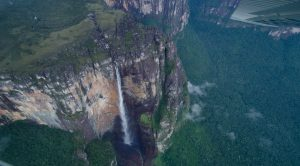 The huge Salto Angel waterfall