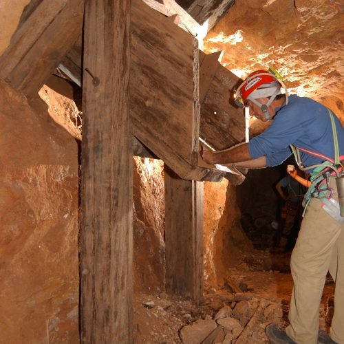 Mexico - Into the ancient mine in the desert