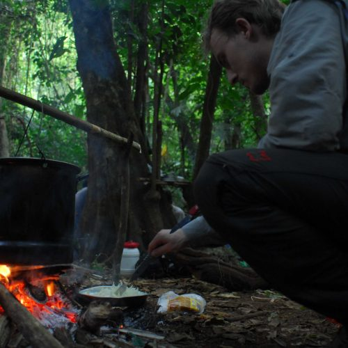 Cooking in the advanced base camp