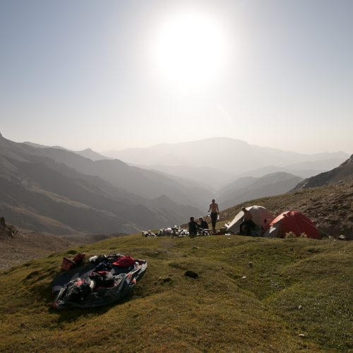 Preparing the Base Camp in Uzbekistan